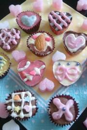 バレンタイン友チョコ♡クッキーinチョコの写真