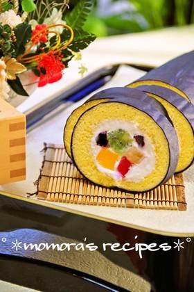 HMで簡単♡節分に恵方巻きロールケーキ