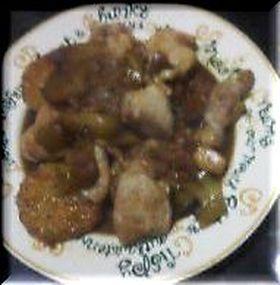 鶏肉と長芋の赤ワインソテー