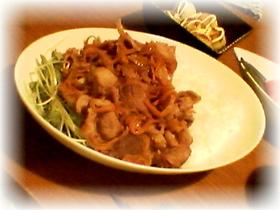 生姜焼きライス