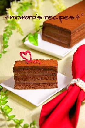 HMで簡単ふわふわ濃厚♡生チョコケーキ