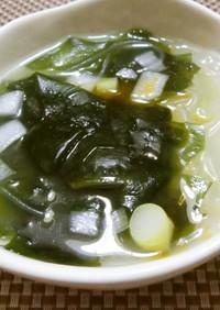 ☆春雨とわかめの簡単スープ☆