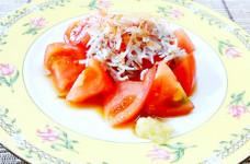 トマトとシラスを生姜ポン酢で♪