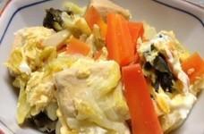 生姜たっぷり*白菜と高野豆腐の卵とじ*