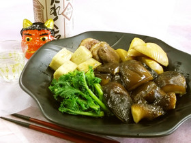 ド迫力!!巨大椎茸「のとてまり」の治部煮