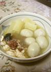離乳食後期☆根菜たっぷりじゃが団子スープ