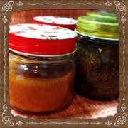 ジャムや水煮など。保存食の瓶詰方法の写真