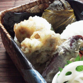 豚肉の天ぷら(醤油麹ガーリックワイン)