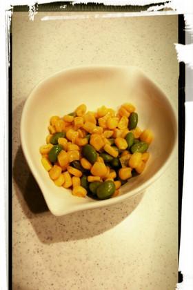 キャラ弁に♡バターコーン枝豆で彩り♡