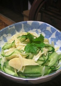 きゅうりと筍、玉葱の味噌レモン