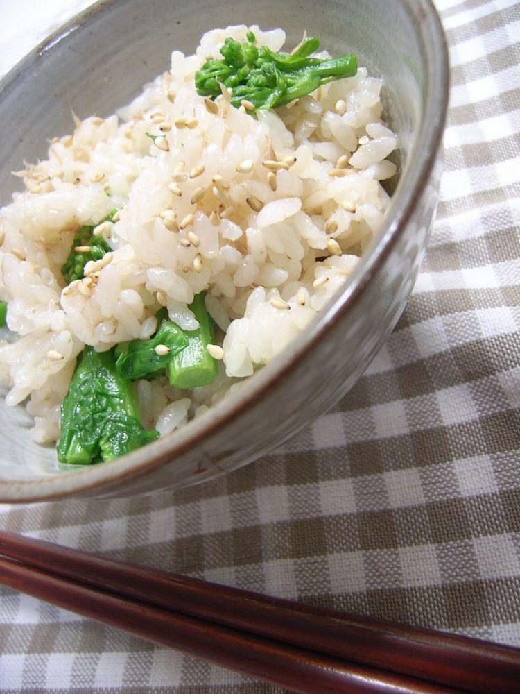 ツナと菜の花の炊き込みご飯♪