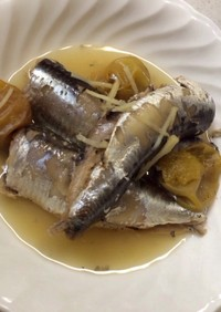 圧力鍋で簡単さっぱり♥︎鰯の梅酒煮♥︎