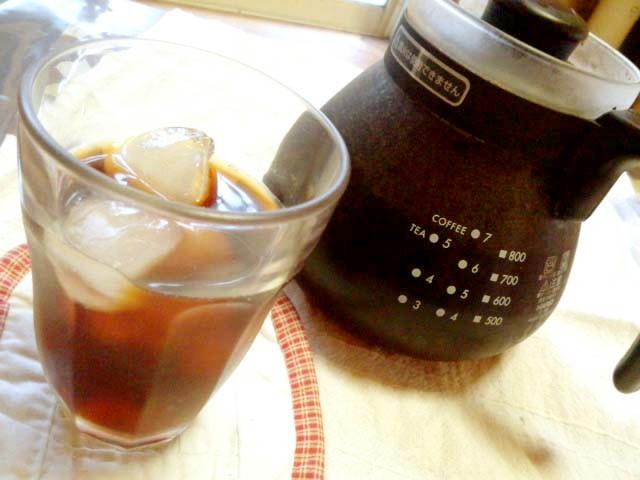 水出しコーヒー(コールドブリュー?)