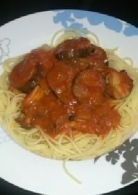 美味しい!和風トマトソースのスパゲッティ