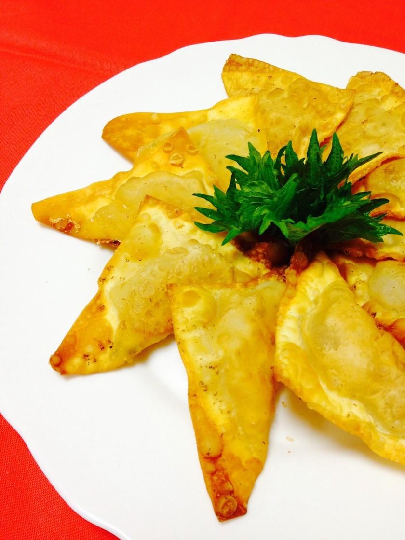 モッツァレラチーズ&トマトの揚げワンタン
