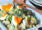 半熟卵とブロッコリーのアボカドサラダ