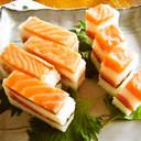 押し寿司-鮭がとろける美味しいお寿司