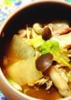 豚肉×白菜×大根の重ね煮味噌カレースープ