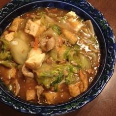ガッツリ系☆白菜と厚揚げの炒め煮