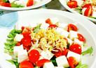 水菜とトマトの豆腐サラダ♪