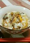 節分福豆と鰯の丸干しで炊き込みご飯