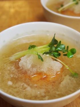 魚河岸あげと大根おろしのスープ