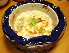 お味噌汁の残りで作る☆豆腐グラタン