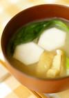 里芋と青梗菜の味噌汁
