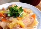 丼にも♪鶏肉と白菜のトロトロしょうが煮