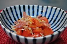 トマトとエノキの和えもの