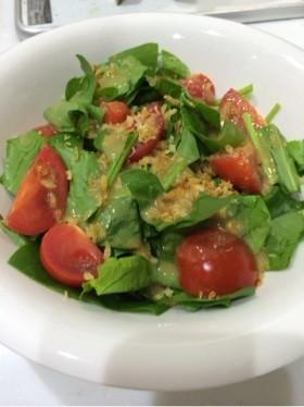 サラダほうれん草とミニトマトのサラダ