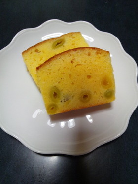 銀杏で♪日本酒パウンドケーキ
