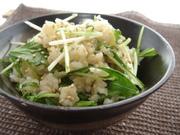 絶品!水菜ご飯の写真