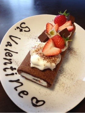 バレンタイン♡ロールケーキ♡