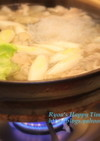 ぶた・牡蠣のニンニク生姜鍋
