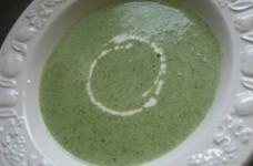 アスパラとほうれん草のスープ