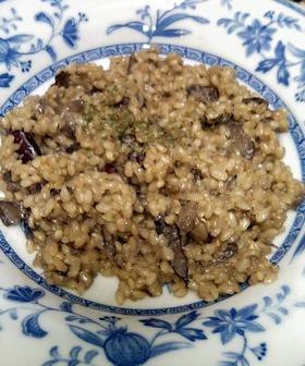 茸とお豆の玄米クリーミーリゾット