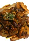 豚肉・蓮根・筍の甘辛炒め