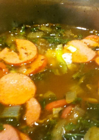 ビタミン、葉酸たっぷり。青汁ケールスープ
