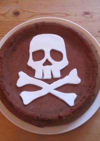 6歳の誕生日ケーキ ドクロ