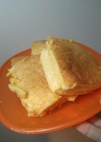 独り暮らしの四角いふかふかパンケーキ