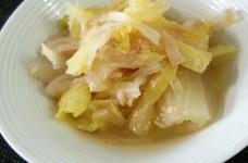 白菜と玉葱とツナの煮物