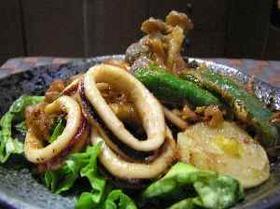 イカと野菜のリング揚げ