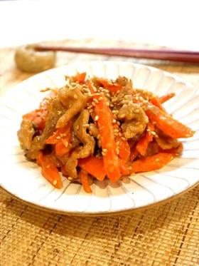 ♢人参と豚肉のオイマヨ胡麻炒め♢