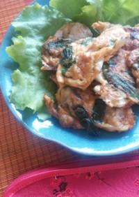 キムチ入り韓国風牡蠣のピカタ