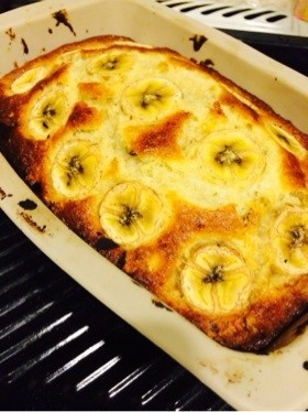 HM☆絶品クリームチーズ入りバナナケーキ