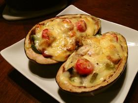 原木椎茸と旬野菜のオーブン焼き賀茂ナス編