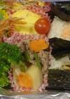はなびし草の鮭マヨと焼アナゴのおにぎり