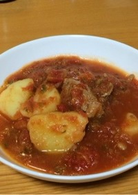 活力鍋で療養食 豚ヒレのトマト煮