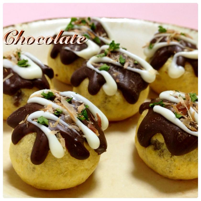✿簡単大量生産 チョコたこ焼きなのだ✿